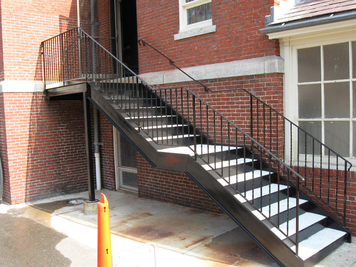 Colonial iron works iron works stairs for Exterior metal stairs