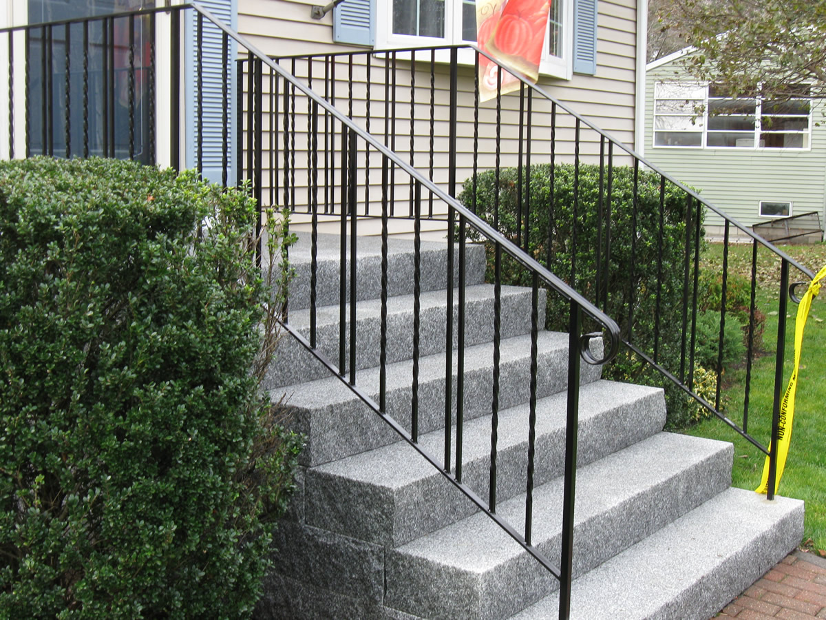 Colonial iron works exterior handrails