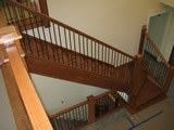 Custom Wrought Iron Baluster With A Patina Finish