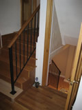Interior Handrail With Spoon Style Balusters