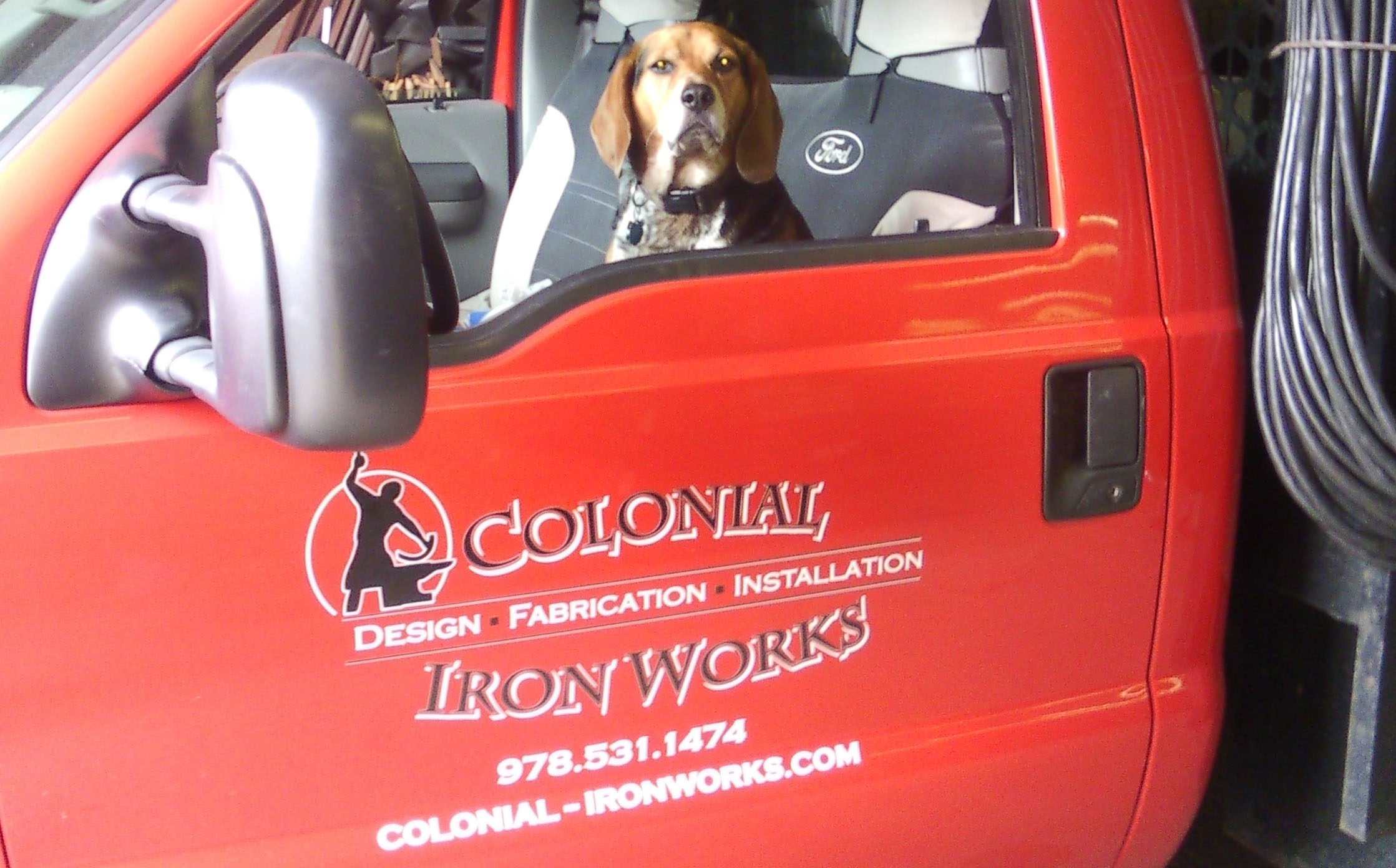 colonial iron works mascot